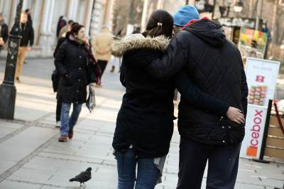 dan zaljubljenih, zagrljaj, zagrljeni, par, držanje za ruke, zajedno