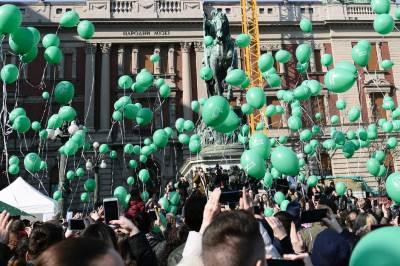 nurdor, dan dece obolele od raka, baloni, zeleni baloni,