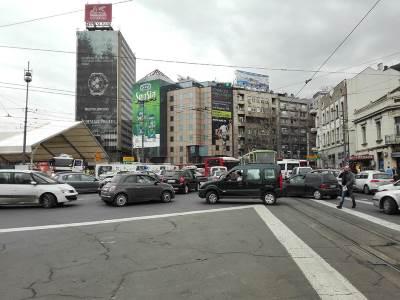 kolaps, tramvaji, trolejbusi, trole, saobraćaj, slavija, kružni tok