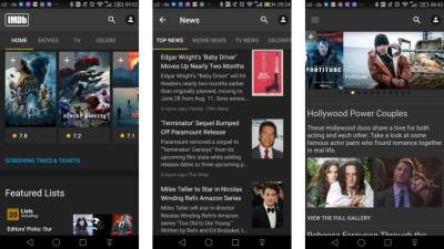 IMDB Android App update