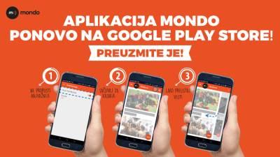 MONDO aplikacija, MONDO android aplikacija