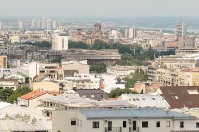 beograd, panorama, panorame beograda, crkva svetog marka, bulevar, zgrade, soliteri, kuće, grad, naselje