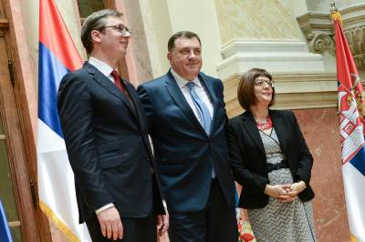 vučić i dodik, maja gojković, zakletva, skupština, predsednik srbije, inaguracija, vučić predsednik