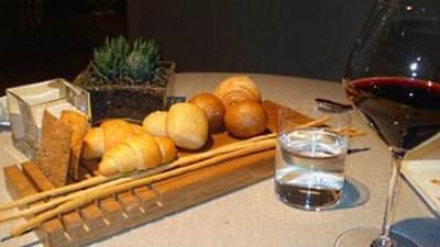 restoran, vino, hleb