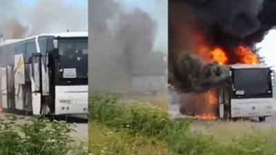autobus, zapaljen autobus
