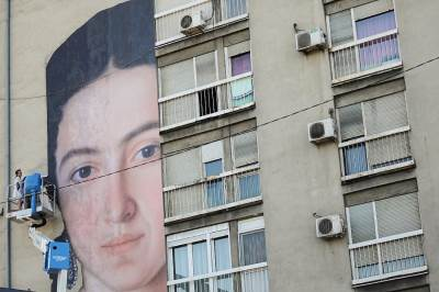 mural, palilula, soliter, zgrada, beograd,