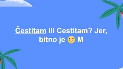Facebook efekti srpska slova Čestitam i Cestitam