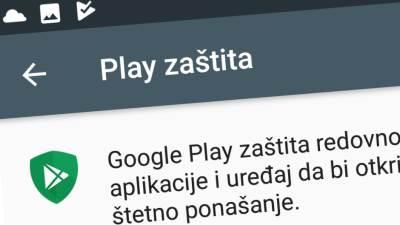 Play zaštita aplikacija Android prodavnica, Play Protect