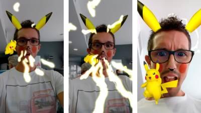 Pikachu Snapchat Lens