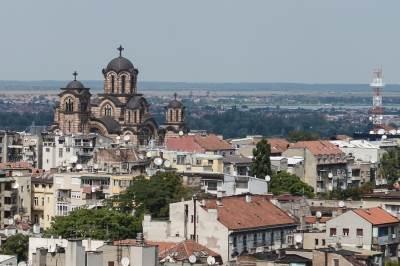 crkva svetog marka, crkva, hrišćanstvo, religija, zgrade, zgrada, kuće, naselje, grad, beograd, grad, ulice, panorama,