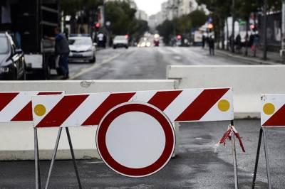 policija, blokada, blokiran put, ulica, saobraćaj,  parada ponosa, prajd, gej parada