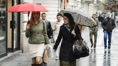 jesen, kiša, kišobran, pljusak