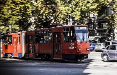 tramvaj, dvojka, krug dvojke, ulica, šine, beograd, dorćol, cara dušana, saobraćaj, gsp,
