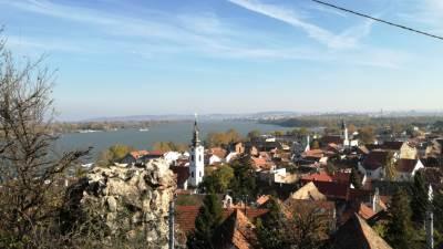 Zemun, Gardoš, Dunav, pogled sa Gardoša, panorama