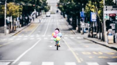 parada ponosa, bicikl, baloni,