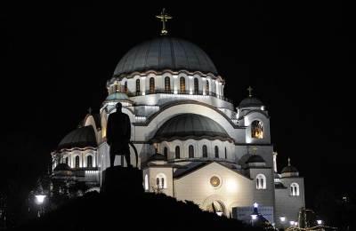 hram svetog save, noć, hram, crkva, vera, pravoslavlje, vernici,