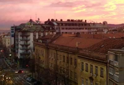 takovska, svitanje, izlazak sunca, ulica, jutro