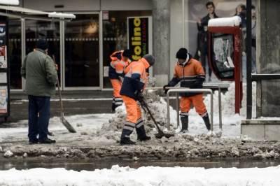 sneg, zima, čišćenje snega, čistači,
