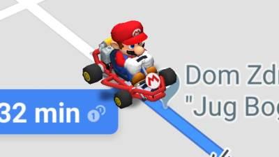 SUper Mario, Google Maps, Gugl Maps, Maps, Mario Kart
