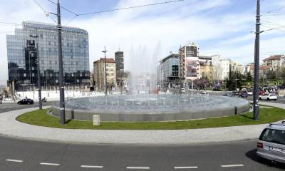 slavija, fontana na slaviji, kružni tok