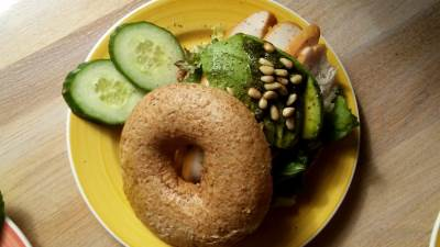 avokado, bagel, sendvič
