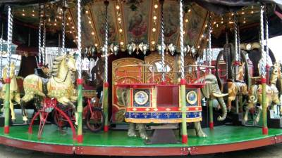 park, karusel, vrteška, zabavni park