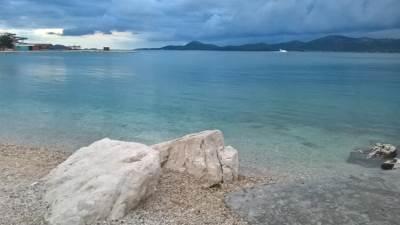 hrvatska, more, plaža, biograd na moru, stene