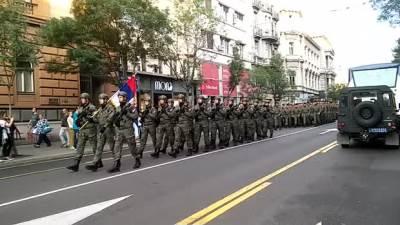 Parada, policija, proba parade, policijska parada, parada policije