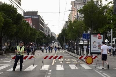 policija, dan policije, zatvorene ulice