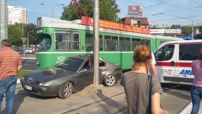 sudar, nesreća,tramvaj,alfa romeo
