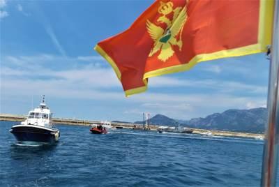 vježba 1, crna gora, zastava crne gore, zastava, more, jadran, brod