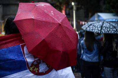 srbija brazil, mundijalski trg, kišobran, kiša, srbija