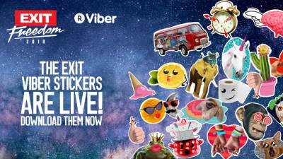 Viber EXIT stikeri