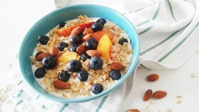 doručak, musli, badem, borovnice, zdrava hrana, žitarice