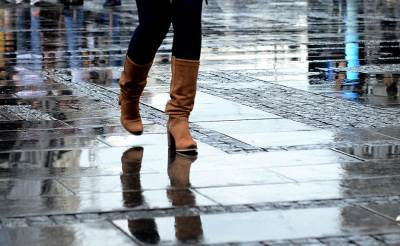 kiša, čizme, korak, štikle