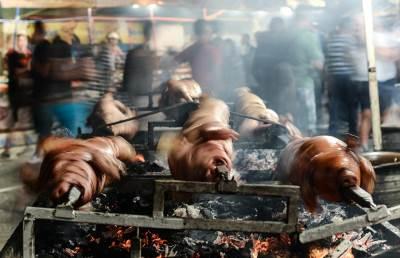guča, ražanj, prase, svinja, roštilj, pečenje
