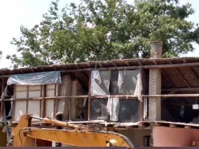 građevina, ruševina, rušenje kuće