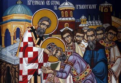 sveti stefan prvovenčani krunisanje crkva sveci spc