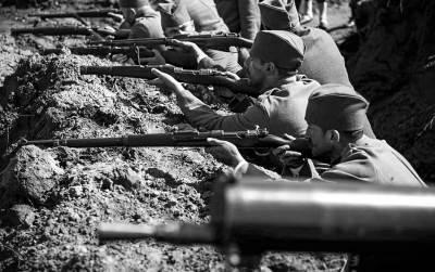 prvi svetski rat, rov, vojska, puške