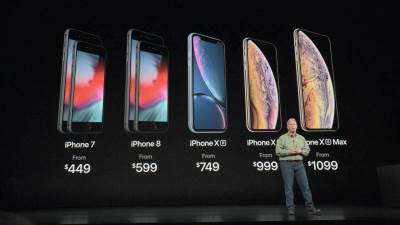 iPhone XS, iPhone XS Max, iPhone XR cene