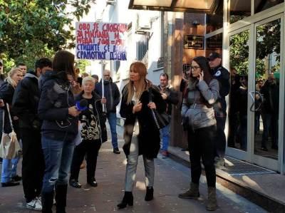 Marina Medojević, protest
