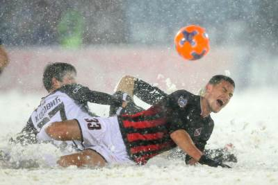 Partizan, Mačva, sneg