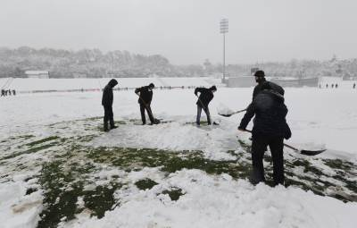 čukarički stadion sneg zavejano