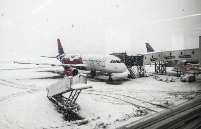 aerodrom nikola tesla, sneg