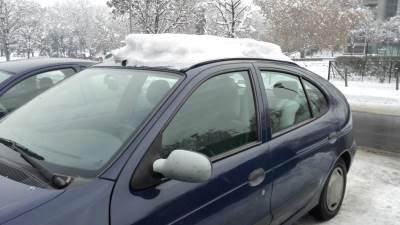 auto, automobil, sneg, zima