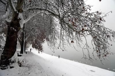 sneg, zima,