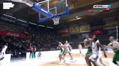Bandža Si, KK Partizan, zakucavanje, ABA liga