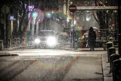 sneg, noć, saobraćaj