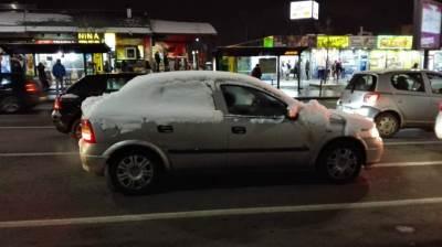 automobil, sneg, čišćenje