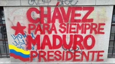 Novi Sad, grafiti, Venecuela, Maduro, grafiti podrške Venecueli